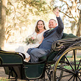 grand oaks wedding day photography carriage