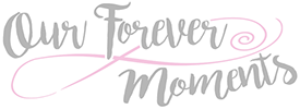 pink and grey logo for Our Forever Moments photography